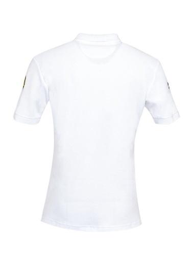 Panthzer  Taftan Polo Yaka Erkek T-Shirt Beyaz